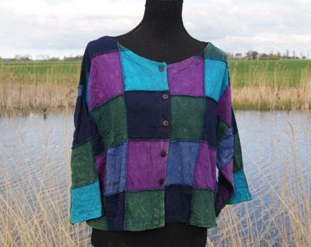 Katoenen Patchwork blouse/vest