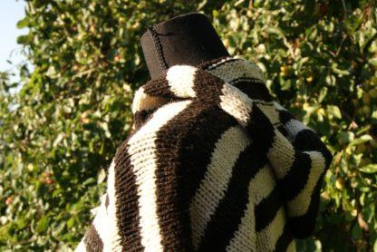 Gestreepte wollen trui handgemaakt