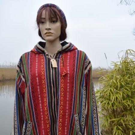 kleurrijke jas van geweven katoen
