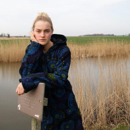 Lange Fleece jas