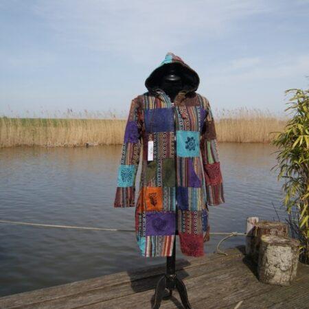 Nepal patch jas met capuchon
