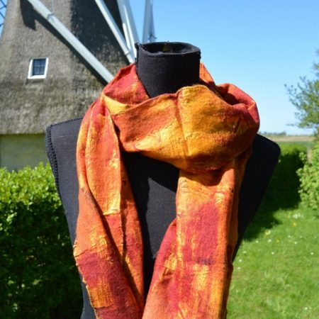 sjaal vilten op zijde