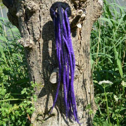 Festival dreads zwart met paars