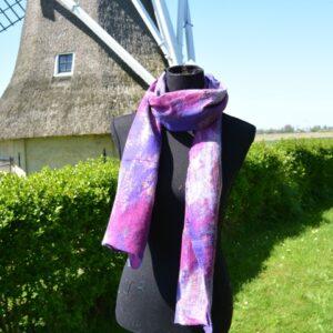 Vilt en zijde sjaal Fair Trade