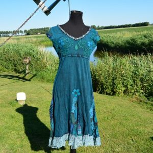 Festival jurk blauw