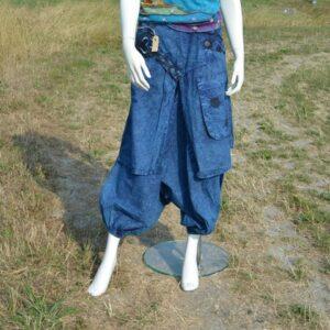 Harem rokbroek blauw