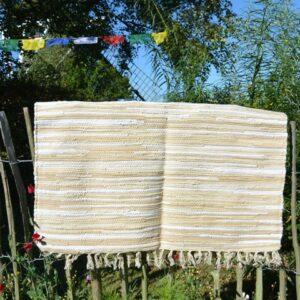 Naturel vloerkleed van gerecyclede textiel