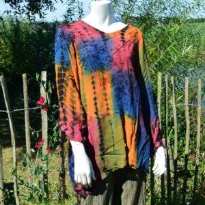 grote maten blouse tie dye