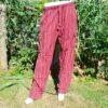 Rood gestreepte broek katoen