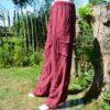Cargo broek gestreept rood