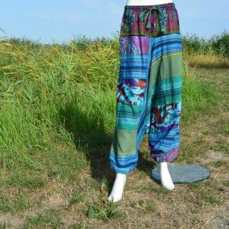 Kleurrijke broek met laag kruis