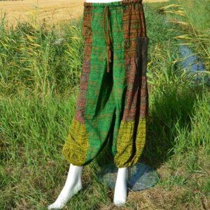 Baggy broek katoen stonewashed