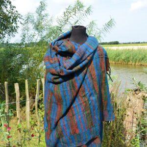 Grote omslag sjaal met wol
