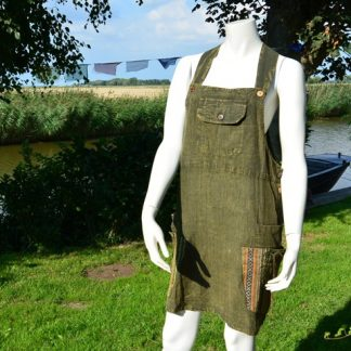 Alternatieve Nepal tuinjurk Dungaree dress Fair Trade