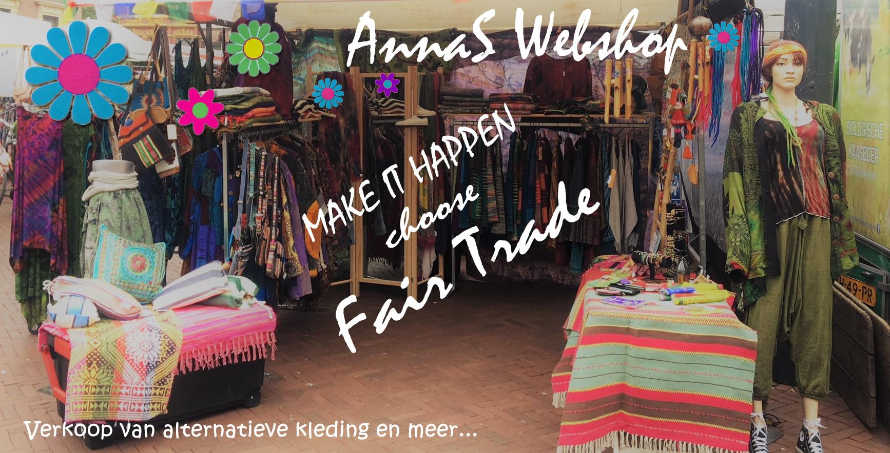 Verkoop van Fair Trade alternatieve kleding