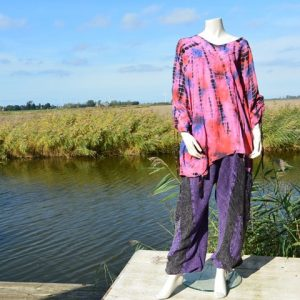 Blouse one size met borduursels