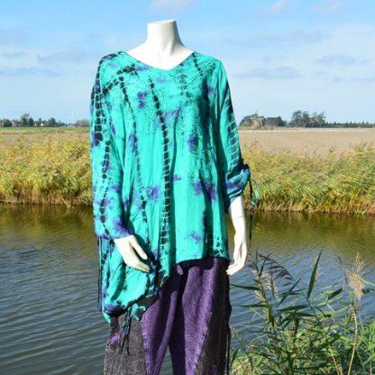 grote maat blouse met borduursels merk Rapp