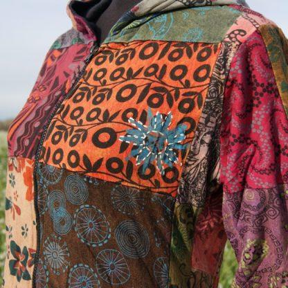 Kleurrijk patchwork vest van katoen