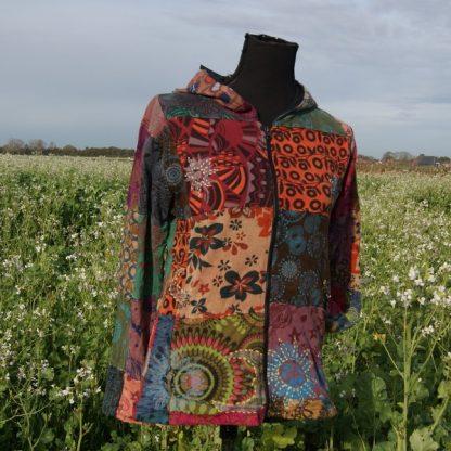 Alternatief kleurrijk patch vest