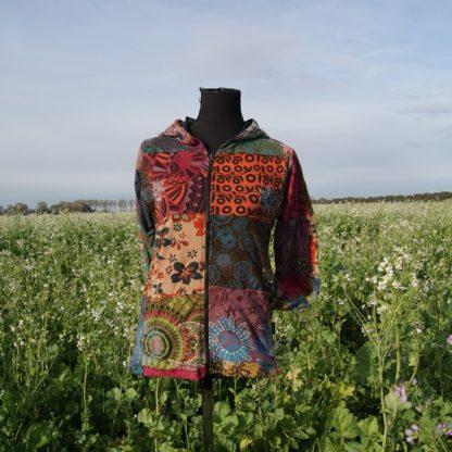 Festival vest met capuchon katoen