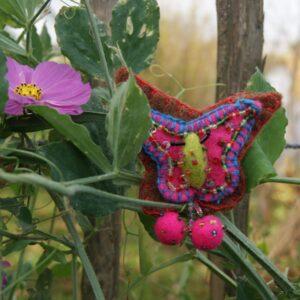 Broche speld vilt vlinder