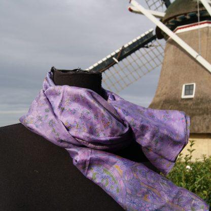 gerecyclede sari sjaal zijde