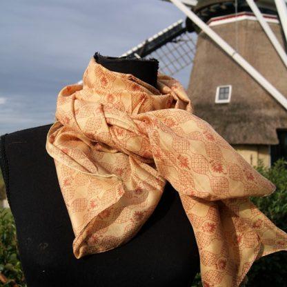 Zijden sjaal gerecyclede sari