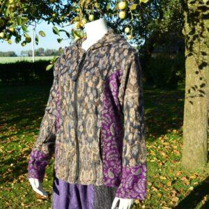 Vest van wol en viscose