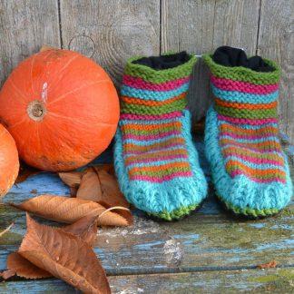 Wollen sokken | pantoffels met zooltje