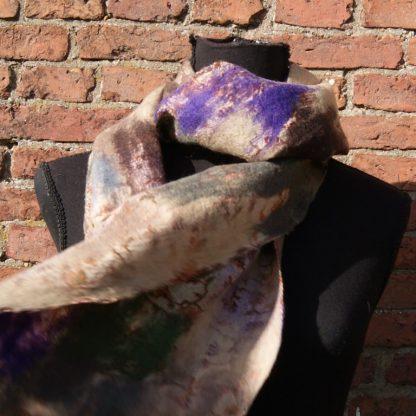 Gevilte zijden sjaal