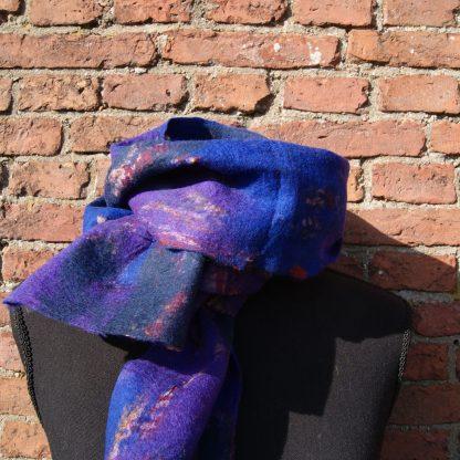 sjaal van vilt op zijde Nepal
