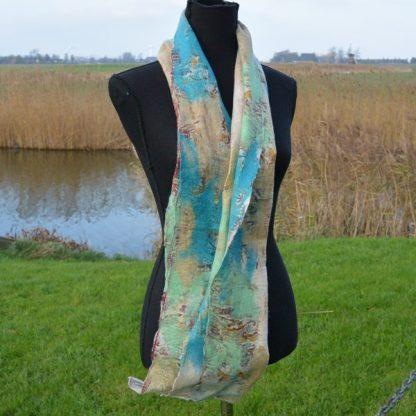 Sjaal vilt en zijde