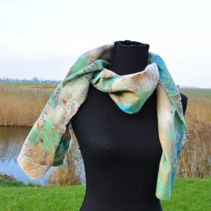 Festival sjaal zijde met vilt