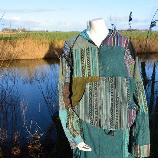 patchwork vest niet gevoerd Fair ware