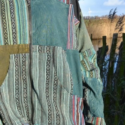 Vest met Kangaroo zak van 100% katoen - kleurrijk