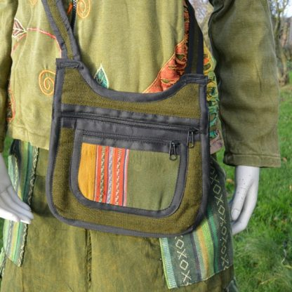 Schoudertas met Andean textiel