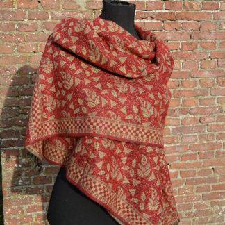 warme grote sjaal rood