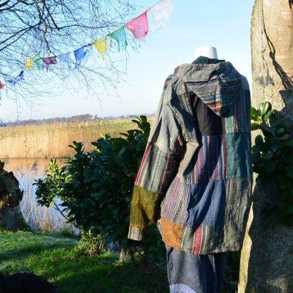 Festival jas patchwork met capuchon