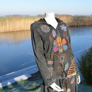 Flower Power vest met capuchon