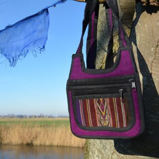 Fair Trade Boliviaanse zachte Aguayo tas