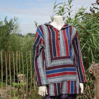 Kleurrijke zomer jack met capuchon van gheri katoen