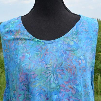 Blauwe tuniek jurk van viscose