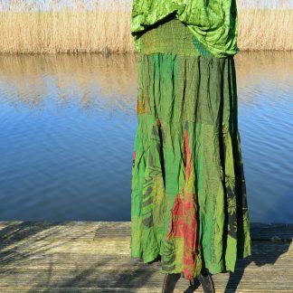 Patchwork Kiran Boetiek rok met elastische taille