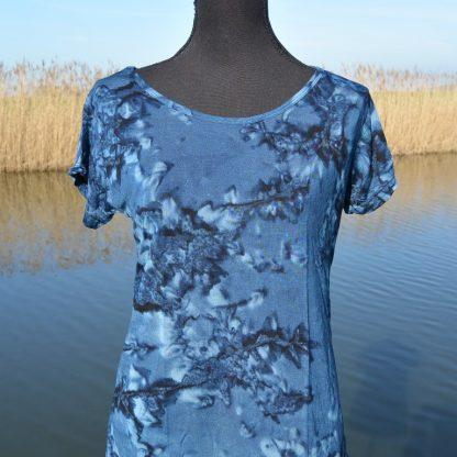 Batik shirt blauw Fair ware