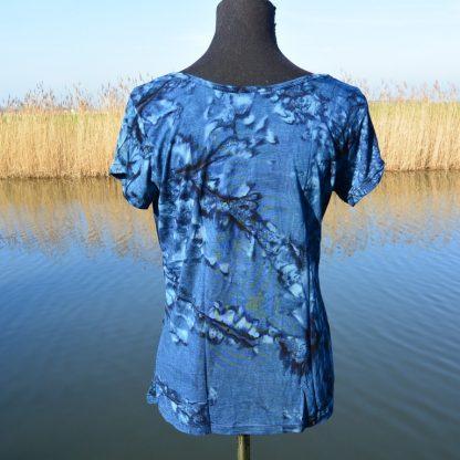 T-shirt van viscose soepel vallend blauw