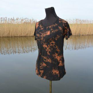 T-shirt soepel vallende viscose gemarmerd