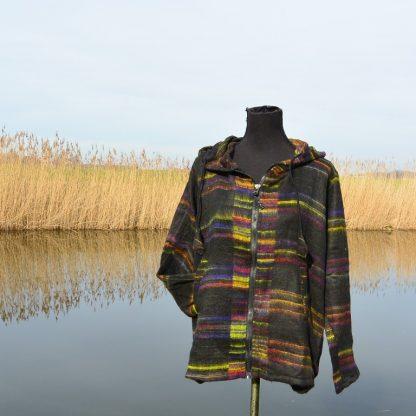 fleece vest ongevoerd met capuchon
