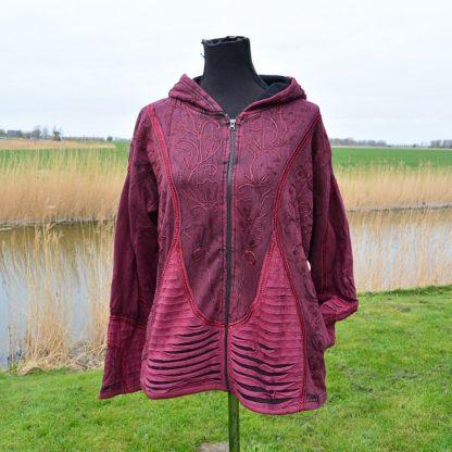 Kleurrijke alternatieve kleding, vest met capuchon