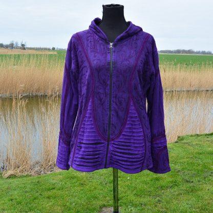 Purple Wild Pixie Hood Jacket, Pixie Jacket, Psy Trance Clothing, Boho Coat.