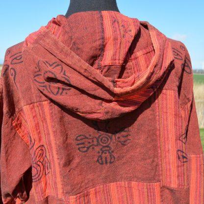 Nepal shirt, Goa Hippie shirt met lange mouw en boord